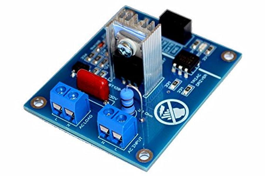 小説回転するシンカンACプログラム可能なライトディマーモジュールコントローラボードfor Arduinoラズベリー互換50 / 60hzヒートシンク付きand Snubber