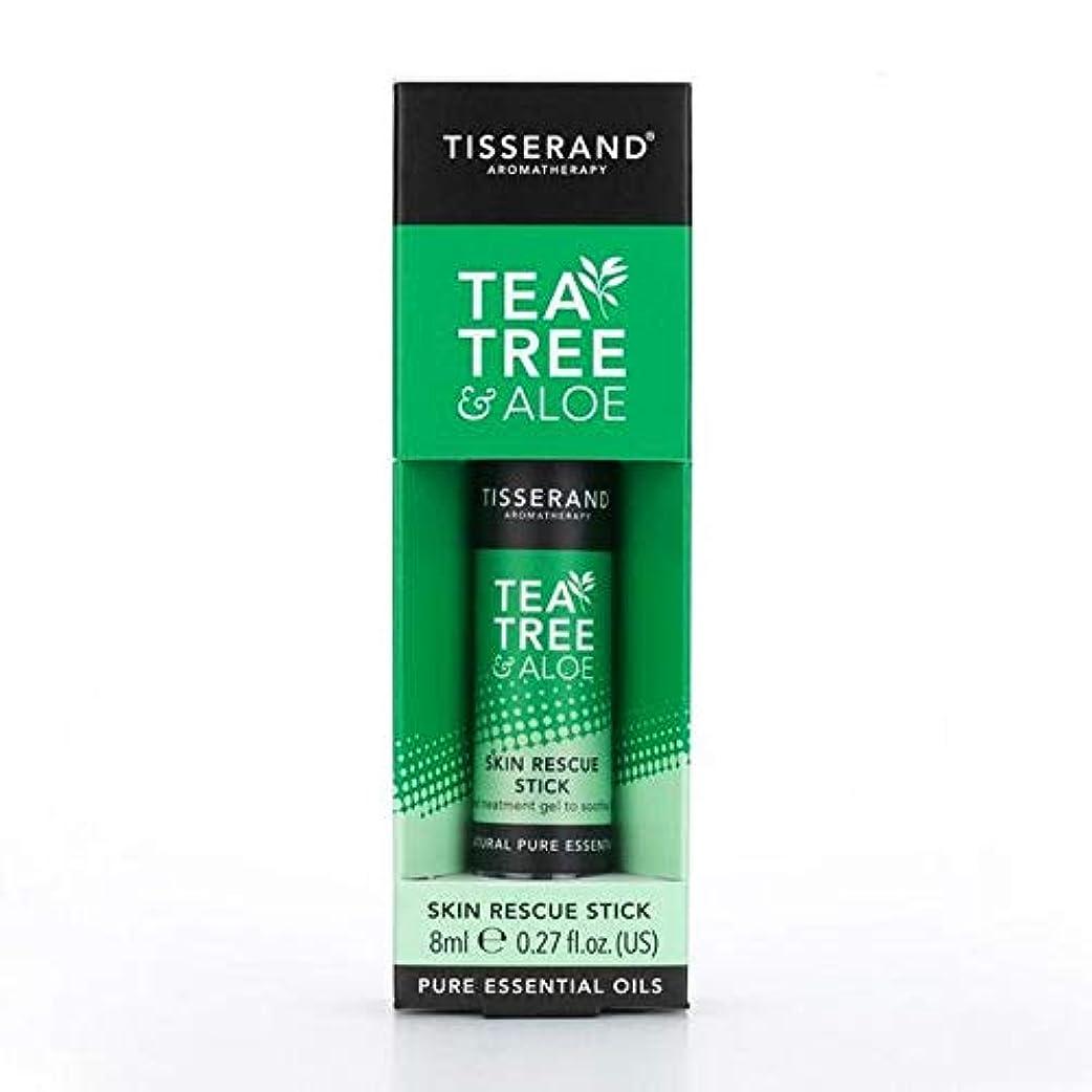 不当顎無臭[Tisserand] ティスランドティーツリー&アロエレスキュースティック8ミリリットル - Tisserand Tea Tree & Aloe Rescue Stick 8ml [並行輸入品]