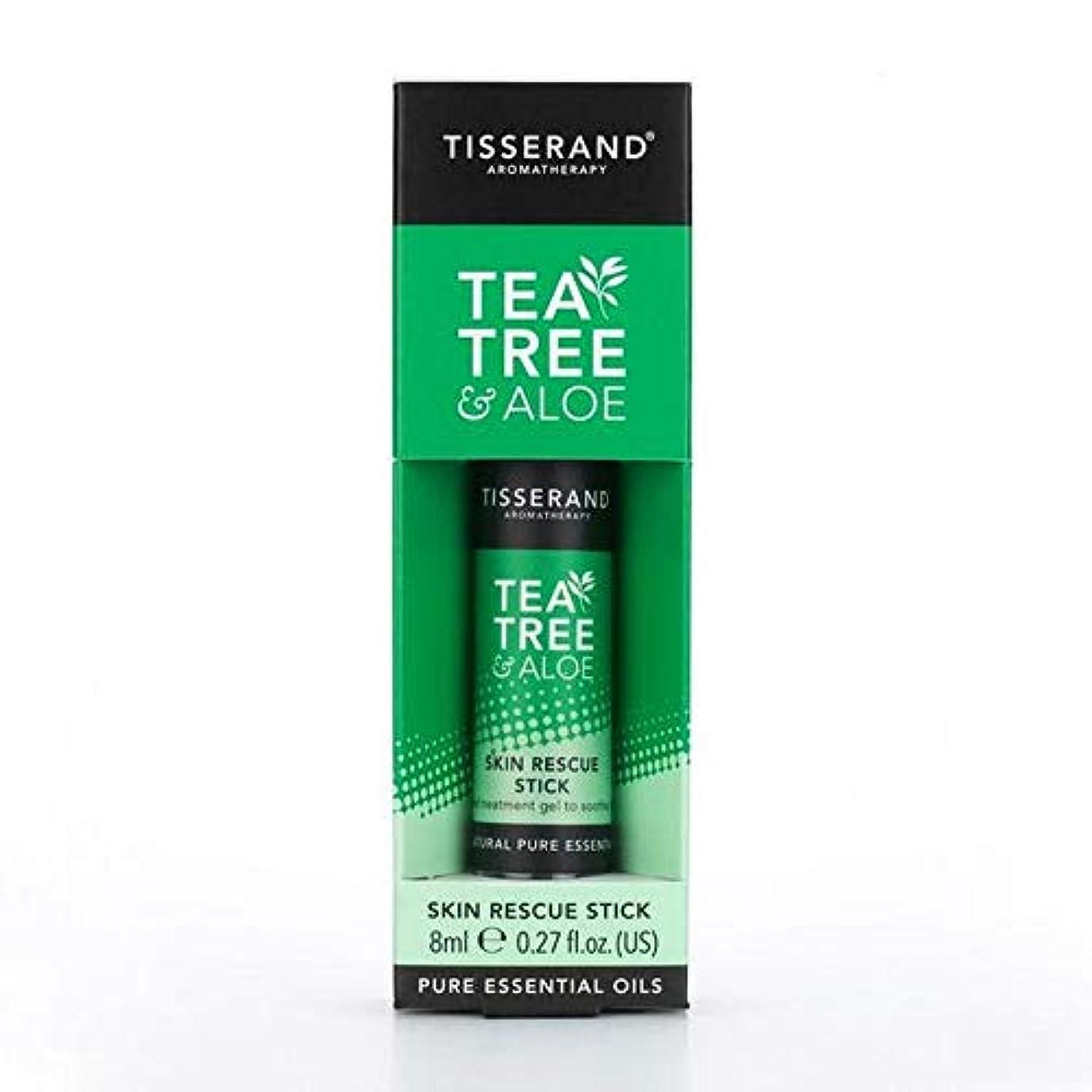 楽な自治放棄する[Tisserand] ティスランドティーツリー&アロエレスキュースティック8ミリリットル - Tisserand Tea Tree & Aloe Rescue Stick 8ml [並行輸入品]
