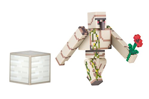 マインクラフト アクションフィギュア アイアンゴーレム 【内容物: アイアンゴーレム(高さ約8cm) バラ 鉄ブロック】
