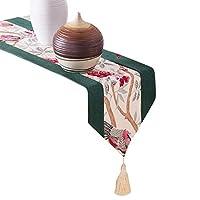 JPAKIOS テーブルクロス単純な花と鳥の印刷長方形のテーブルの旗の装飾のテーブルクロスは、家族の装飾に適用されます (Color : オレンジ, サイズ : 50*210CM)