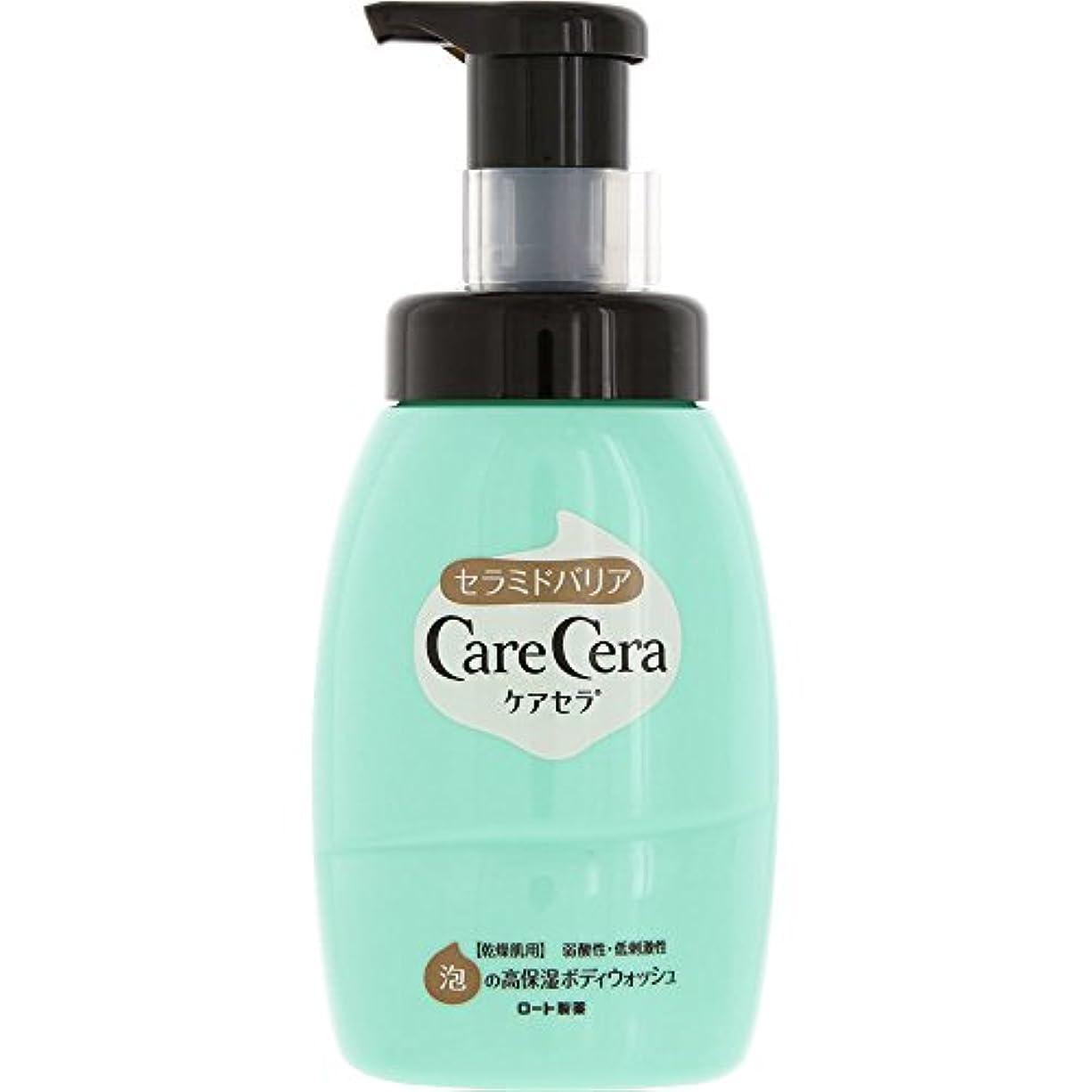 レイアウト左奇跡的なケアセラ(CareCera) ロート製薬 ケアセラ  天然型セラミド7種配合 セラミド濃度10倍泡の高保湿 全身ボディウォッシュ ピュアフローラルの香り お試し企画品 300mL
