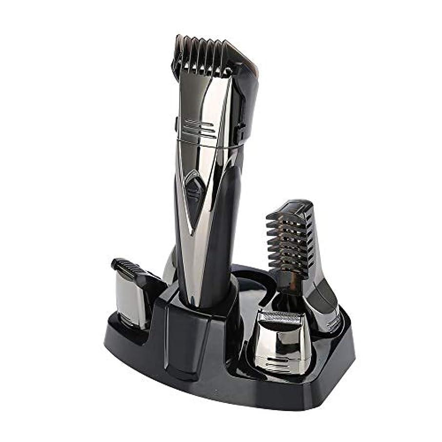 雷雨ロバ量でメンズひげトリマーキット、鼻の耳のボディグルーミングのための1つの再充電可能な毛のトリマーの多機能の電気バリカン理髪店のための5つの切断ツールセット