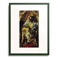 ジョヴァンニ・バッティスタ・ティエポロ Tiepolo, Giovanni Battista 「The Veneration of the Trinity by Pope Clemens. About 1739」 額装アート作品