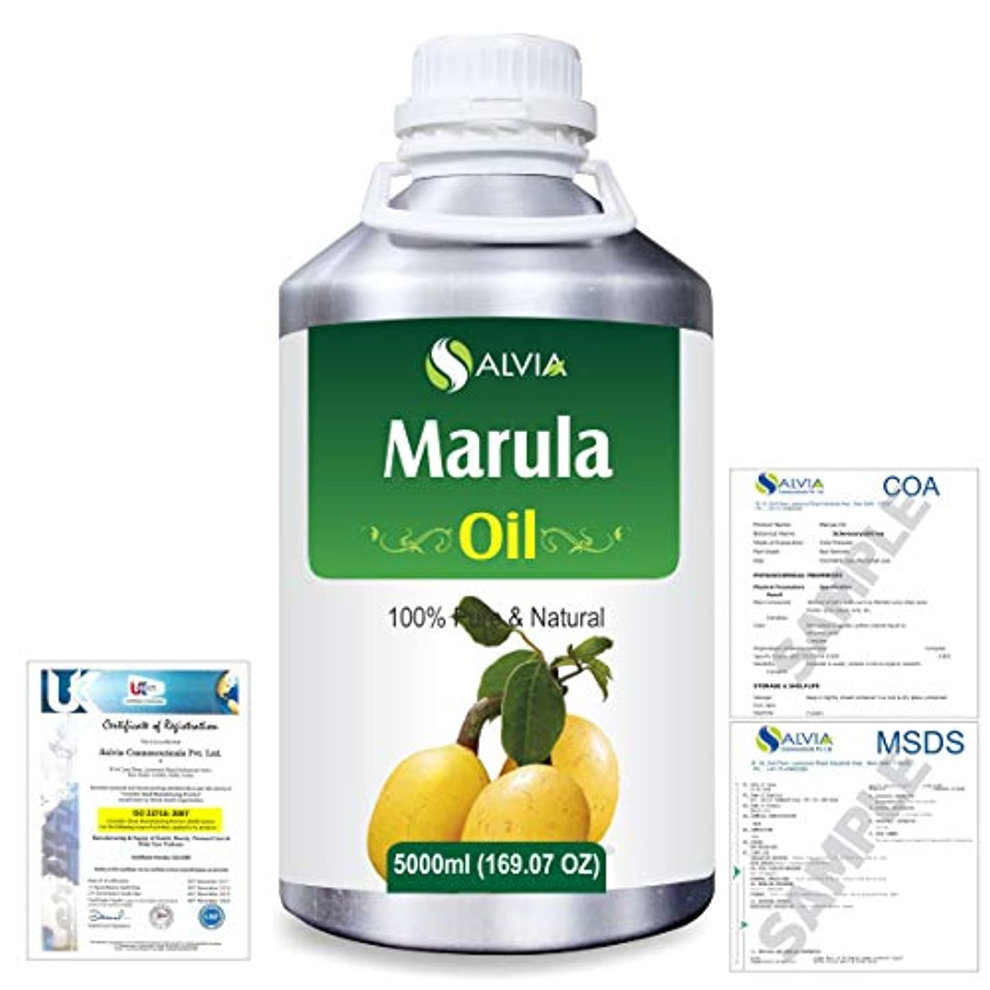 対マニアみがきますMarula (Sclerocarya birrea) Natural Pure Undiluted Uncut Carrier Oil 5000ml/169 fl.oz.