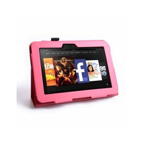 【wisersオリジナル】 amazon Kindle fire HD 専用 ケース 360度回転 スタンド 機能付き ブラック
