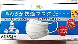 やわらか快適マスク 65枚入り普通サイズ アイリスオーヤマ くらしリズム (ふつうサイズ:175×90)