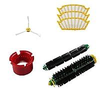 sukeqアクセサリfor iRobot Roomba 500シリーズ5005645270856708掃除機交換部品補充キットInclude 3パックフィルタ、1パックスライドブラシ、ローラー、クリーニングツール