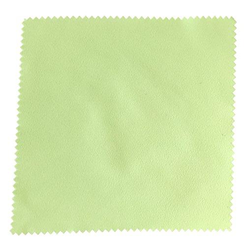 センヨン 銀磨きクロス シルバーみがき布 クリーナー 17.5cm×17.5cm 5枚セット イエローグリーン