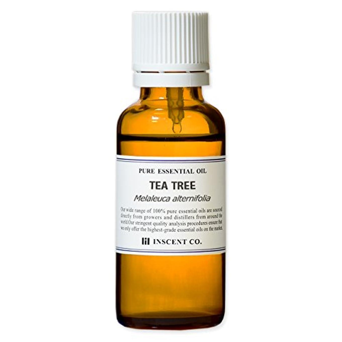 ワイヤーロビープーノティートリー 30ml インセント アロマオイル ティートゥリー AEAJ 表示基準適合認定精油