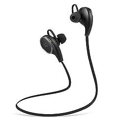 TaoTronics Bluetooth イヤホン 4.0 超小型ワイヤレスステレオヘッドセット【1年間の安心保証】イヤーフック付き マイク内臓/通話可能 CVC6.0ノイズキャンセルの仕組み TT-BH06 (ブラック)