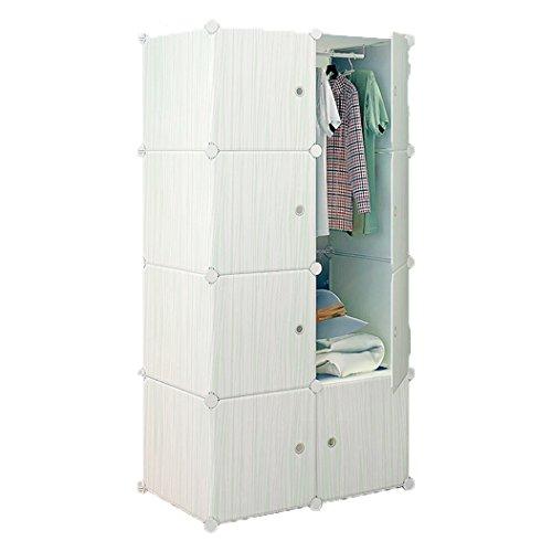552916f0ce LifeDIY 収納ボックス 扉付き 収納棚 衣類収納ラック 組み立て式 ダンス おしゃれ 大容量 青い木目 8:Home &  Kitchen,Furniture:Whenbuy.jchere.com