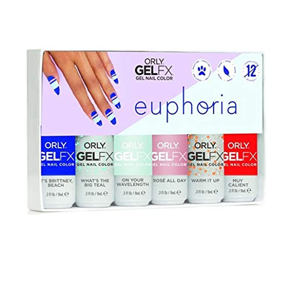 助けになる識字メールを書くOrly GelFX - Euphoria 2019 Collection - ALL 6 Colors - 9mL/0.3oz EACH