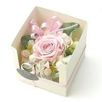フローラルライフ 花 ギフト プリザーブドフラワーCUBE-花 バルーン:なし 花:スウィートピンク