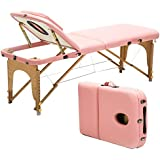 Foldable Portable Massage Bed, Waterproof Professional Home Beauty Table/Tattoo SPA Physical Therapy