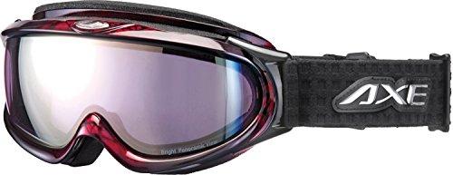 AXE(アックス) スキー・スノーボードゴーグル UVカット メンズ オールラウンド ピンクミラーレンズ レッド AX888-WPK