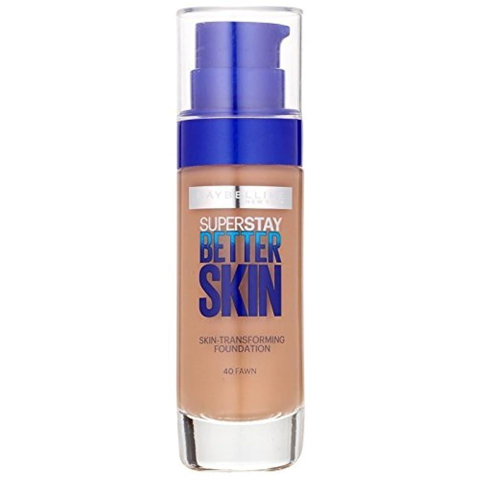 切り離すゆりかご束ねるMaybelline SuperStay Better Skin Foundation make-up SPF 20 (040 Fawn) 30 ml (woman)