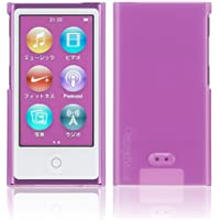 Simplism iPod nano (7th) ハードカバー 傷防止UVコーティング 液晶保護フィルム付属 抗菌仕様 パープル TR-CCNN12-PP