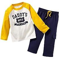 Gotend Boys Long Sleeve Clothing Set Baby T-Shirt+Pants Outfits Pajamas Set