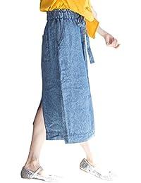 (コーエン) COEN スカート フレンチリネンデニムロングタイトスカート 76706028007 レディース