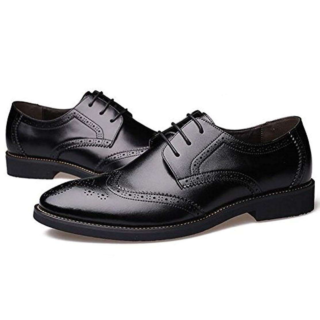 優越儀式上級CHENGFA ビジネスシューズ メンズ レザーシューズ 紳士靴 革靴 本革 ウイングチップ 外羽根 通気性
