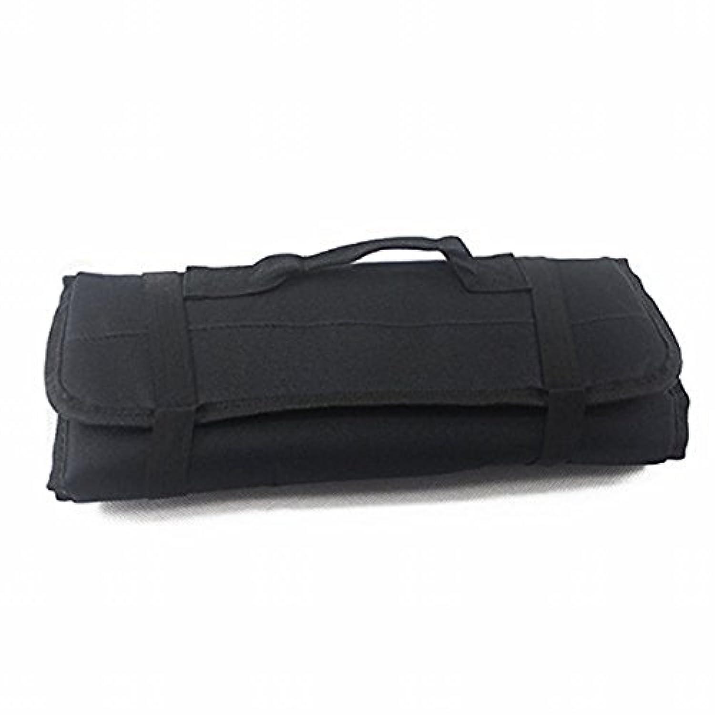 【Rurumi】工具 道具 収納 ツール ロール バッグ 22 ポケット ケース ポーチ 袋 (黒)
