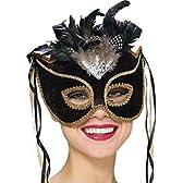 【ハロウィンマスク】Venetian Velvt Eye Mask!セレブ仮面!ブラック4273