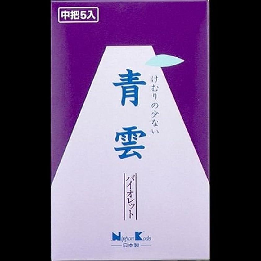 リスキーな適応的時間厳守【まとめ買い】青雲 バイオレット 中把5入 19gx5 ×2セット