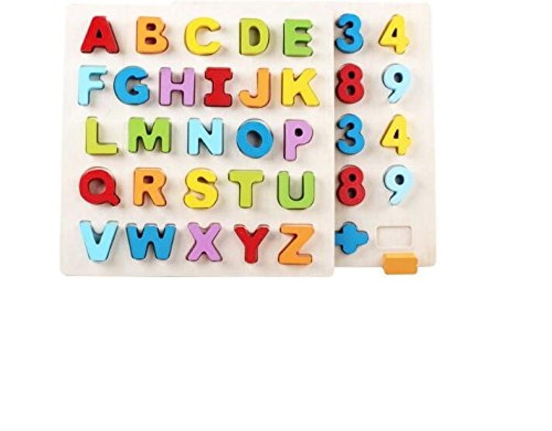 HuaQingPiJu-JP 子供の教育パズルのための木製の就学前の単語認知ボード