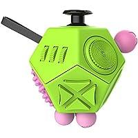 Liegan-おもちゃ解凍キューブ,紧张の不安解消キューブ玩具だ,ストレスや不安を解消し、大人と子供のおもちゃキューブ (グリーン)