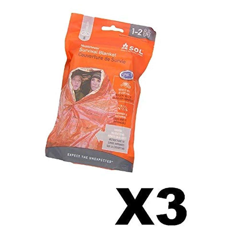 残る広まった壮大Adventure Medical Kits Solサバイバルブランケット2 - Person Emergency熱(3 - Pack)