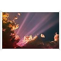 カラフルな雲2のティンサイン 金属看板 ポスター / Tin Sign Metal Poster of Colorful Clouds 2