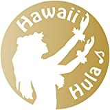 nc-smile ハワイアン ステッカー フラガール Hula Hawaii (ゴールド)
