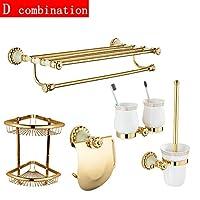 ヨーロッパ浴室ラック銅天然玉タオルラックハードウェアペンダント任意の組み合わせペンダントセット大理石ゴールド浴室フレームリビングルームキッチンを使用することができる