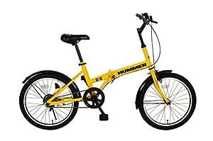 HUMMER(ハマー) 折りたたみ自転車  20インチ MG-HM20R レモンイエロー