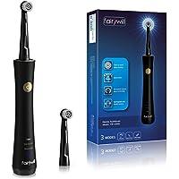 電動歯ブラシ 歯ブラシ Fairywill 回転式歯ブラシ 充電式 ブラック IPX7防水 3モード 2分オートタイマー USB充電 替えブラシ2本 歯磨き FW-2205D