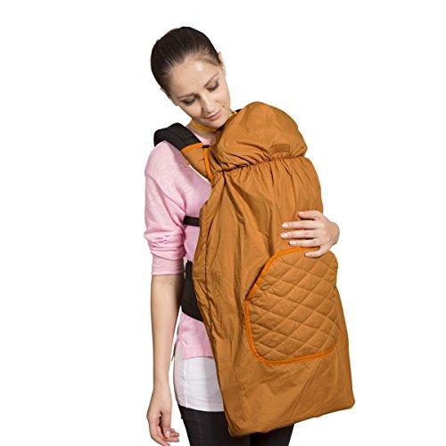 【ベビーアムール 】Bebamour 抱っこひもカバー ケープ ベビーフード付きパーカー コート 防寒 マント出かける用 出産祝い パープル