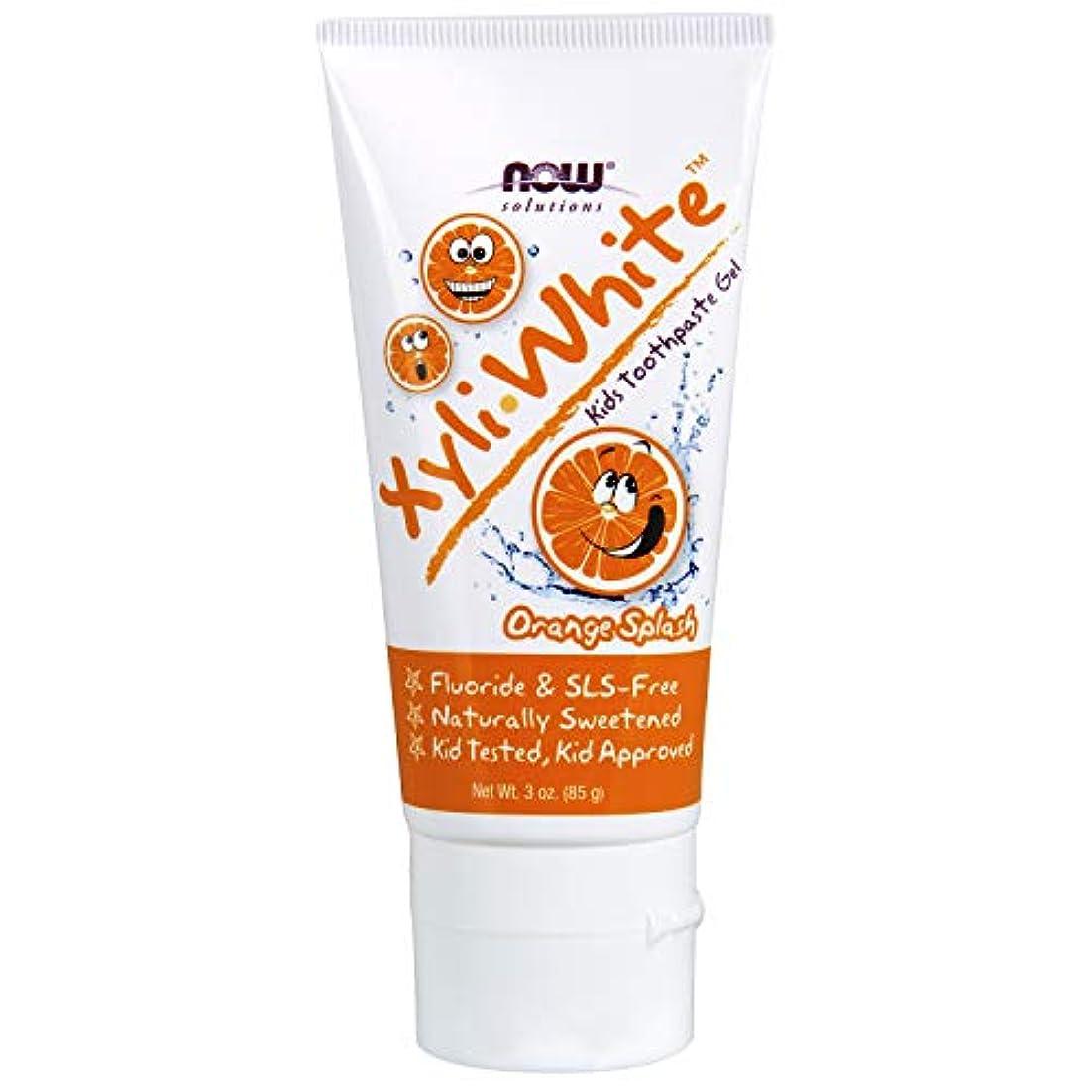 前文楽なハードウェア子供用 キシリホワイト オレンジスプラッシュ 歯磨き粉ジェル 85g/3オンス 並行輸入品 XyliWhite™ Orange Splash Toothpaste Gel for Kids - 3 oz. 海外直送品