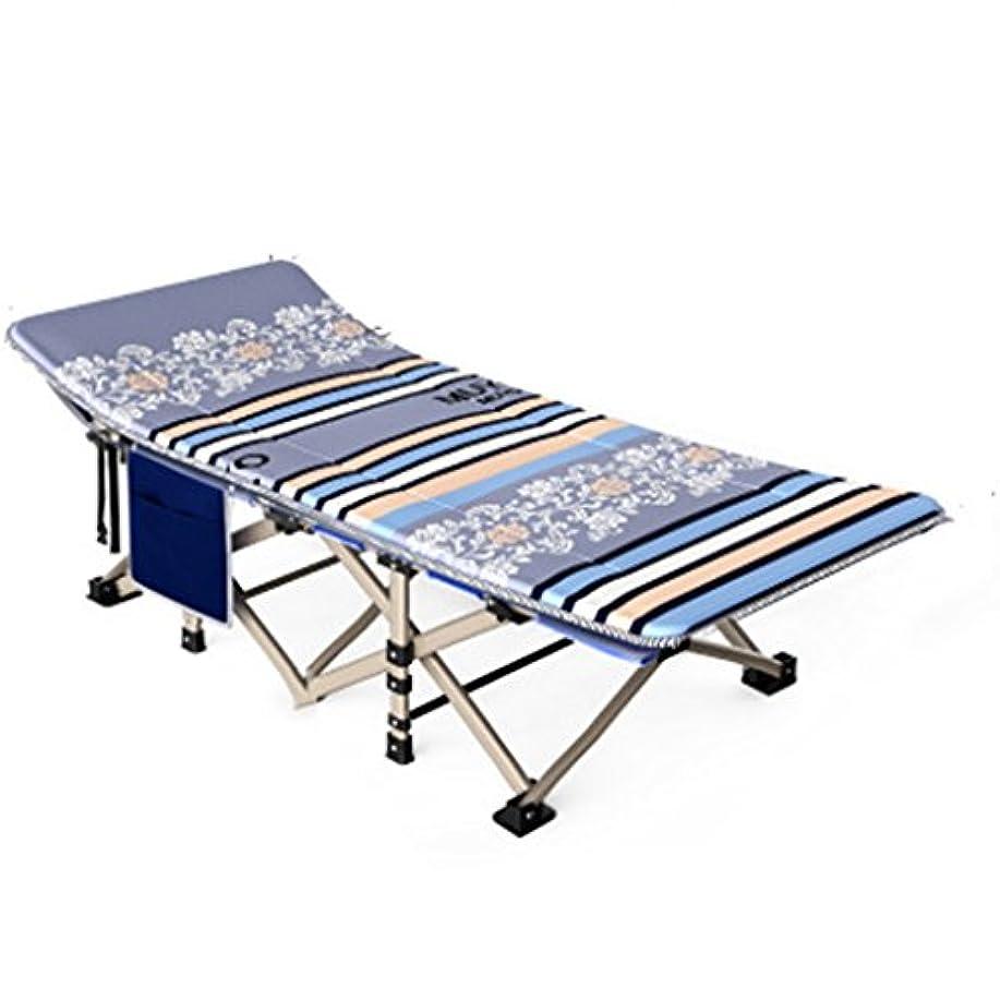 と組むクレーター団結折りたたみ式ベッド 屋外折りたたみベッドシングルベッドシエスタベッドシンプルな布ベッドキャンプベッドベッド同伴190 * 67 * 35センチメートル (Color : Gray)