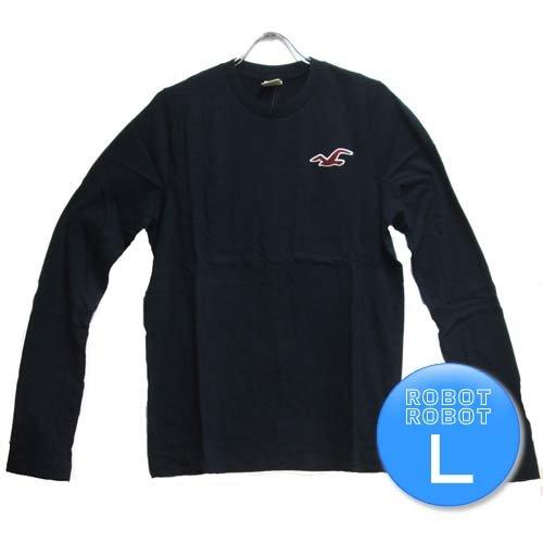 ホリスター Tee/HOLLISTER T-Shirt 長袖Tシャツ 黒 L【並行輸入】