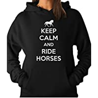 Tstars - Keep Calm Ride Horses - Horse Riding Women Hoodie
