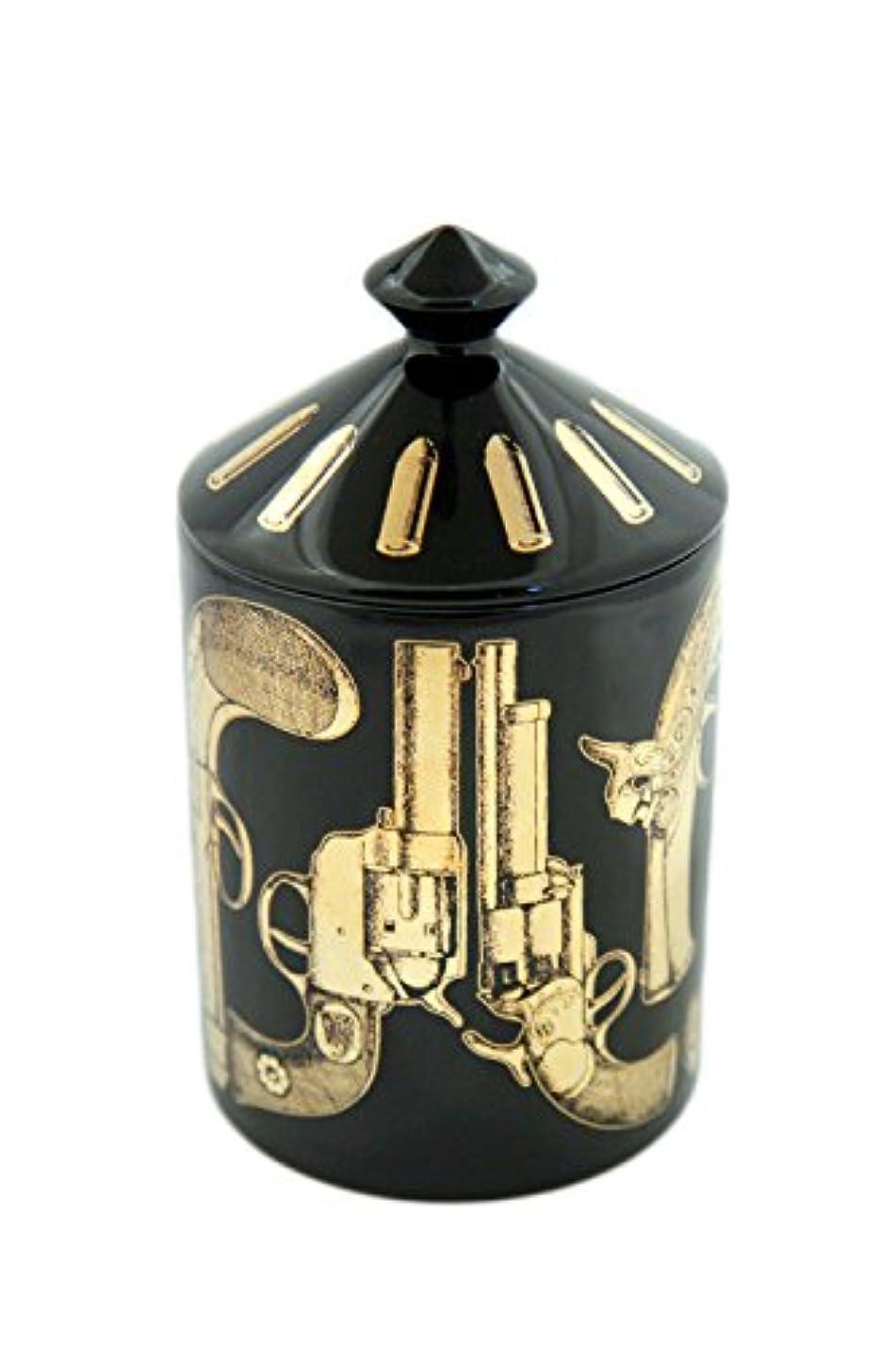 プレゼン狂信者休日にFORNASETTI PROFUMI フォルナセッティー プロフーミ  CANDLE キャンドル Pistole Nero Gold