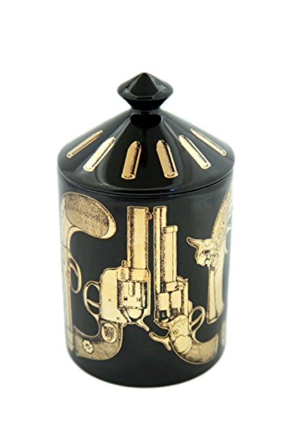 物足りないペインティング許可FORNASETTI PROFUMI フォルナセッティー プロフーミ  CANDLE キャンドル Pistole Nero Gold