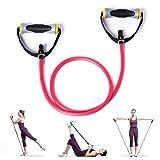 KAMACHI トレーニング ピラティス フィットネス 強化トレーニング チューブ 滑り止め 抜群 選べる強度別3種類(レッド-弱い) …
