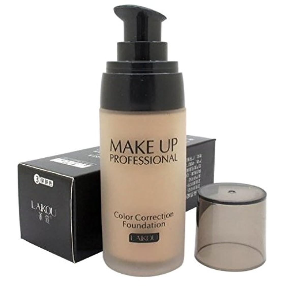 圧縮する故障中クリーナー40 ml Whitening Liquid Foundation Concealer Moisturizer Oil-control Waterproof Makeup NO.3