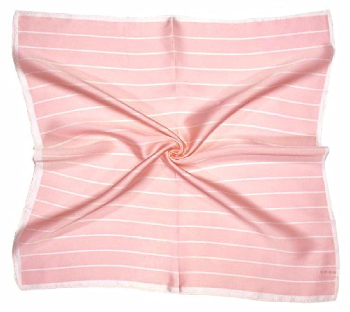 隔離着替えるダニピンクの白いプリントされた厚い小さいシルクのスクエアスカーフ。