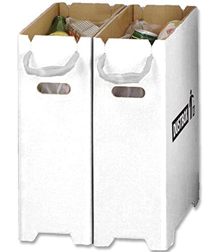 【Amazon.co.jp限定】 撥水加工 汚れに強い おしゃれ で スリム な ダンボール ダストボックス MINI 分別 ゴミ箱 2個組 ( 20リットル ゴミ袋 LL レジ袋 対応)