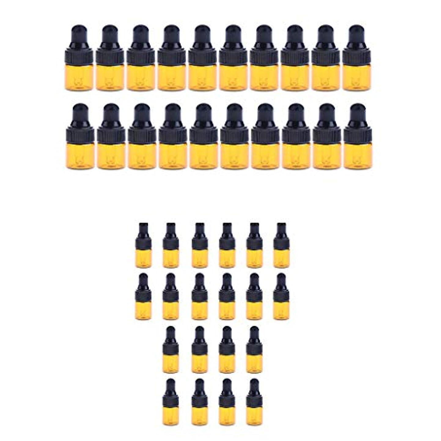 入り口カバーパッド小分けボトル スポイトボトル ガラス瓶 詰め替え 精油 香水 保存用 2ml / 3ml 40個入