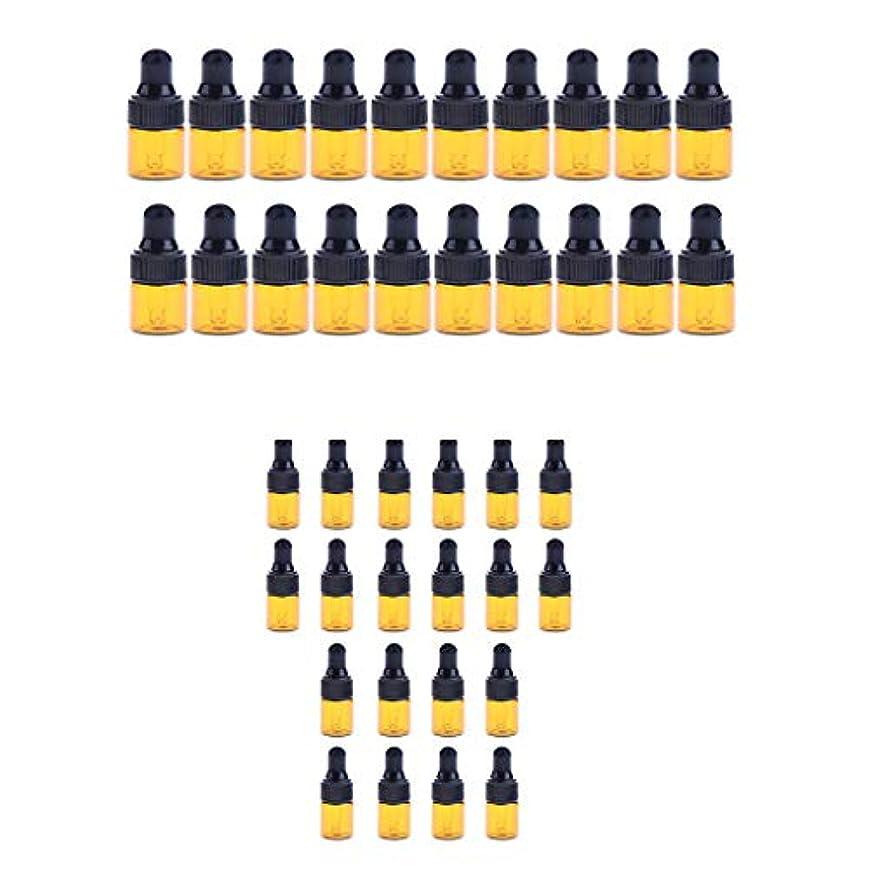 予測する伸ばすフローティングFenteer 小分けボトル スポイトボトル ガラス瓶 詰め替え 精油 香水 保存用 2ml / 3ml 40個入