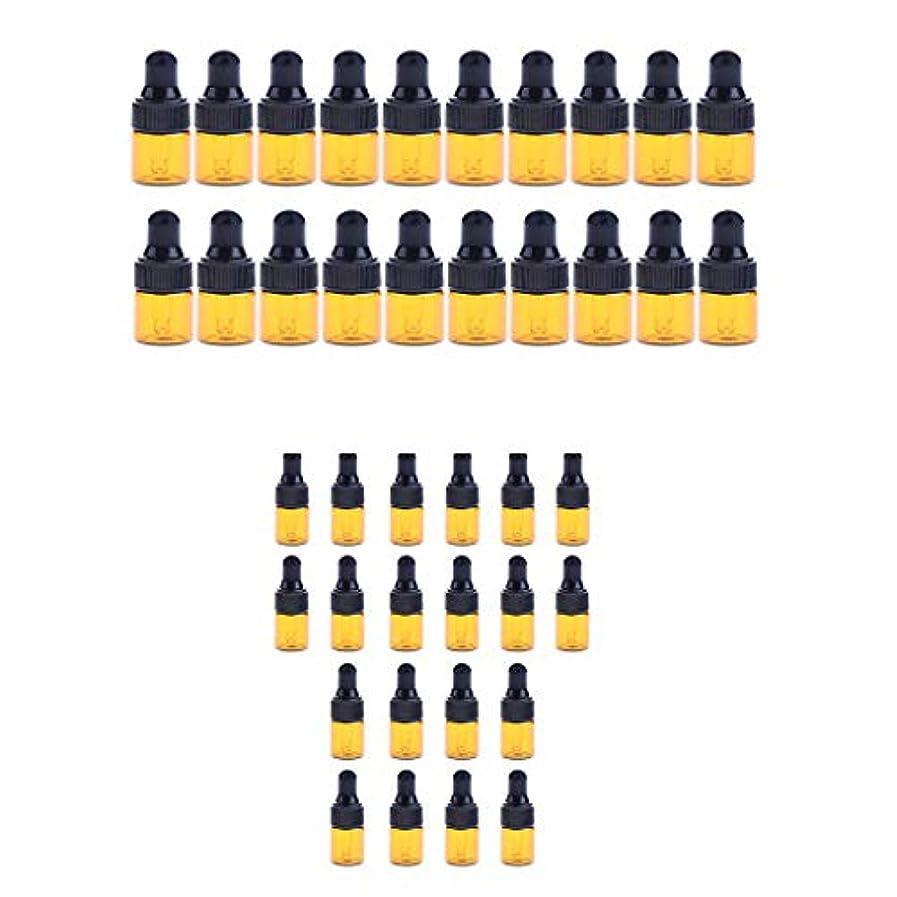 Fenteer 小分けボトル スポイトボトル ガラス瓶 詰め替え 精油 香水 保存用 2ml / 3ml 40個入